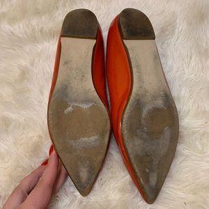J. Crew Shoes - J Crew Viv Hot Coral Patent Leather Flats